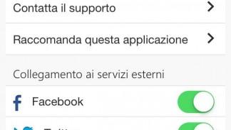 App RCB Android Impostazioni