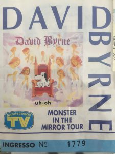 David Byrne - Monster in the mirror tour