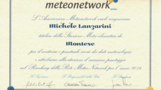Attestato Meteonetwork Montese 2014