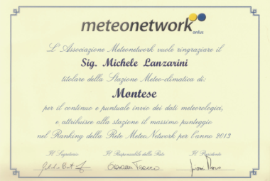 attestato meteonetwork 2013