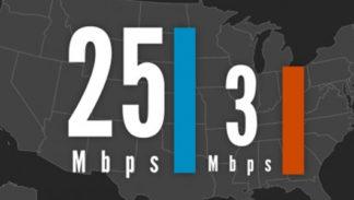 FCC 25Mbps download 3 Mbps upload