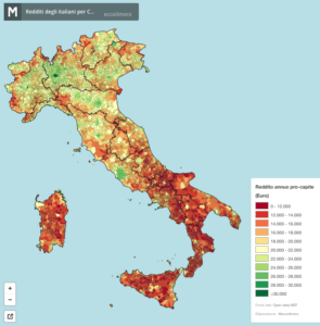 mappa redditi 2012