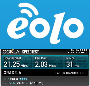 speedtest eolo